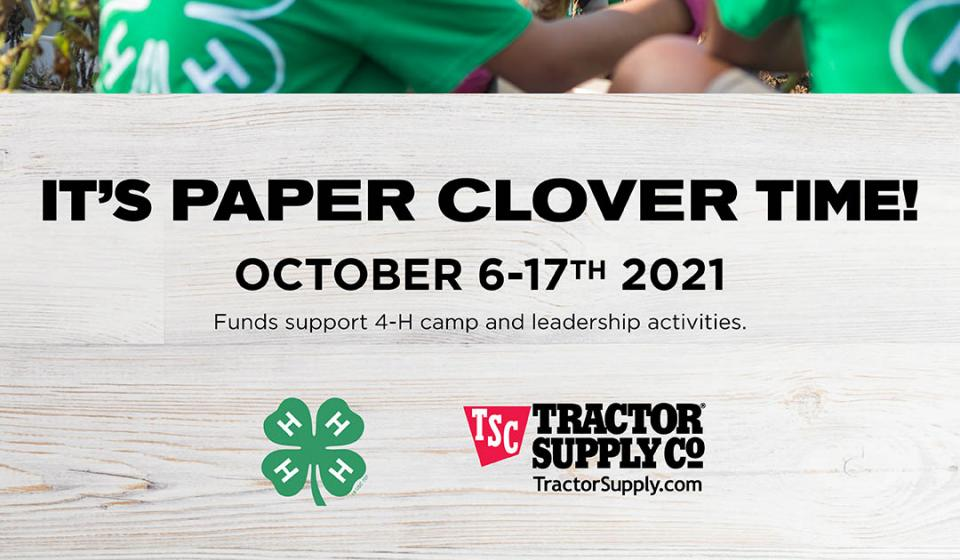 Tractor Supply Co. 4-H Paper Clover Drive